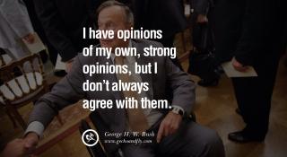 Bush opinions